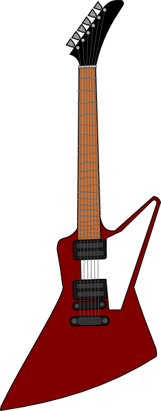 Gibson Explorer Guitar Clip Art at Clker.com.