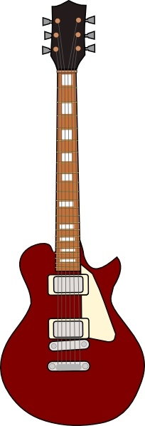 Gibson Les Paul Guitar clip art Free vector in Open office drawing.