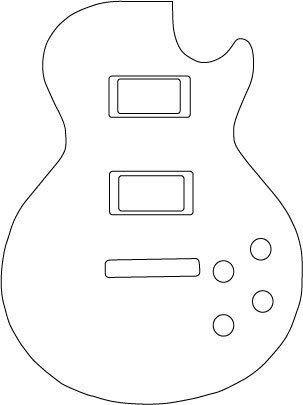 gibson les paul Guitar clipart.