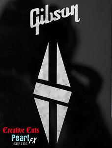 Details about Gibson & Split Diamond Headstock Decal MOP Vinyl Sticker  Inlay + more options.