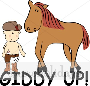 Giddy Up Clipart.