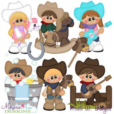 Giddy Up SVG Cutting Files + Clipart.