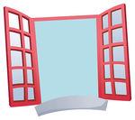 Open House Window Clipart.
