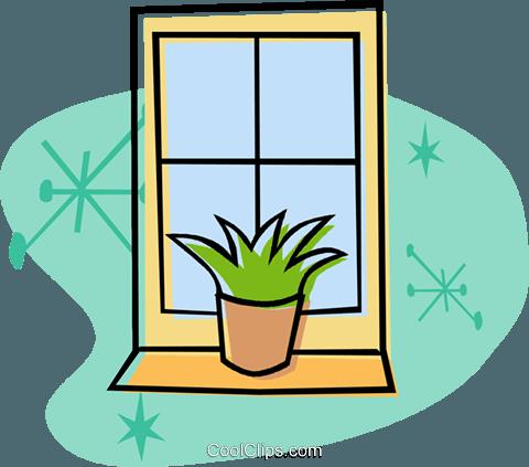 Fenster Vektor Clipart Bild.