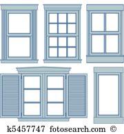 Fenster Clipart Illustrationen. 62.415 fenster Clip Art Vektor EPS.