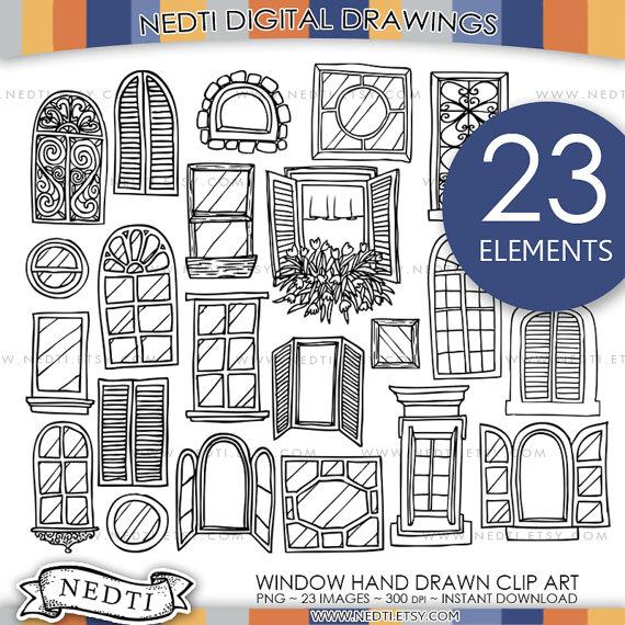 Windows Doodle ClipArt Fenster Clipart Digitalbilder PNG von Nedti.