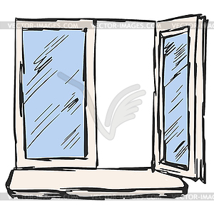 Holzfenster Clipart.