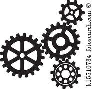 Gears Clipart Vector Graphics. 59,213 gears EPS clip art vector.