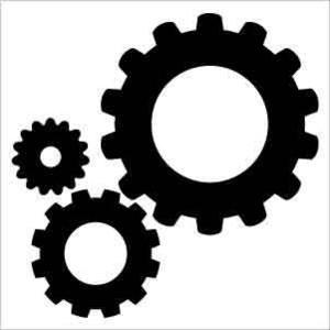 Gears Silhouette Clip Art.