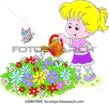 Blumen Gießen Clipart.