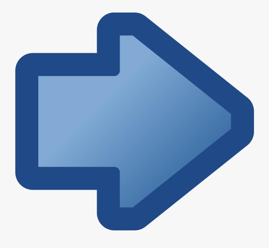 Free Vector Icon Arrow Right Blue Clip Art.