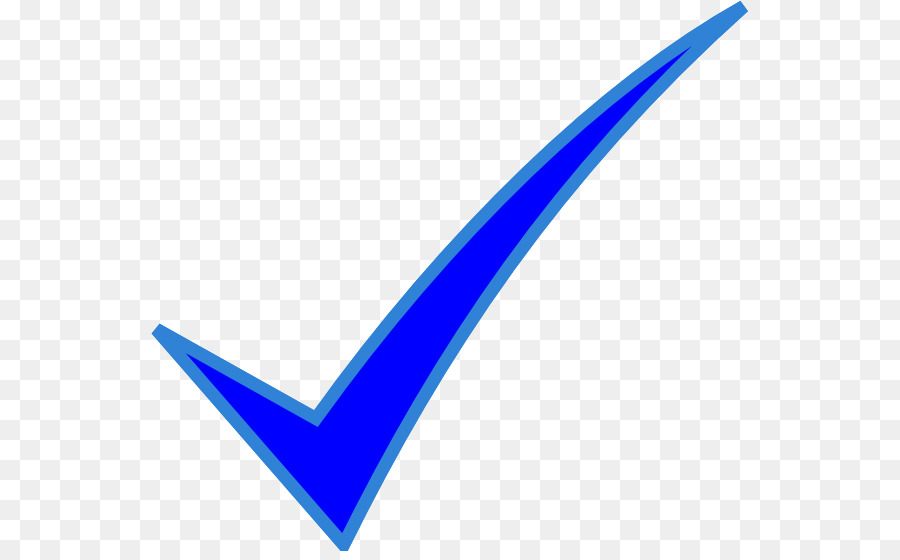 Blue Check Mark png download.