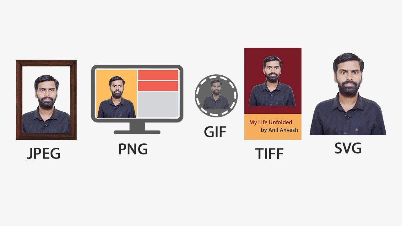 JPEG vs PNG vs GIF vs TIFF vs SVG.