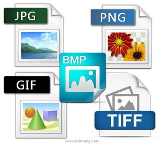 Perbedaan Ekstensi Gambar JPG, GIF, PNG, BMP dan TIFF.
