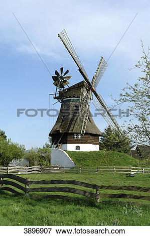 Picture of Mill museum, Gifhorn, Lower Saxony, Germany, Europe.