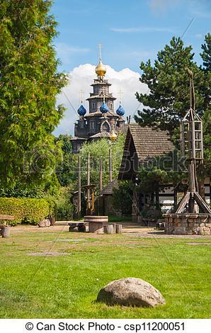 Stock Bilder von hölzern, russische, Kirche, in, Gifhorn.