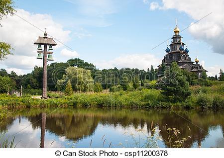 Bilder von hölzern, russische, Kirche, in, Gifhorn csp11200378.