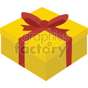 gift box no background clipart. Royalty.