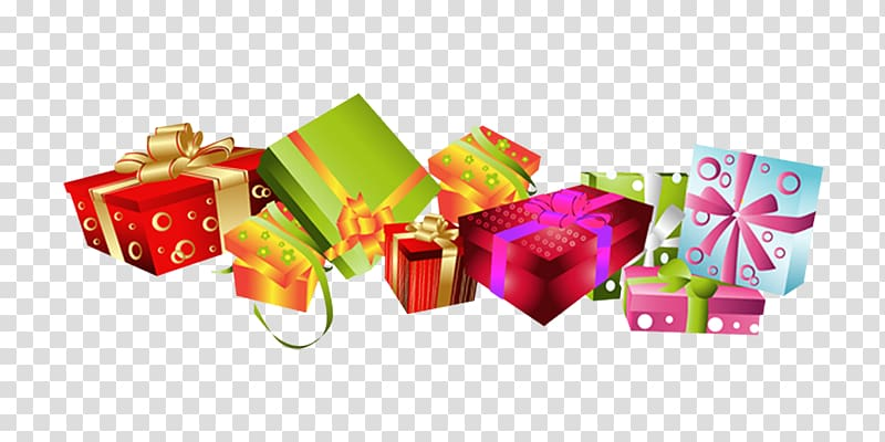 Christmas gift Box, gift transparent background PNG clipart.