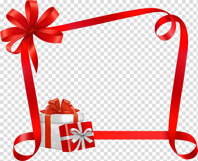 Christmas Ribbon Gift, gift transparent background PNG.