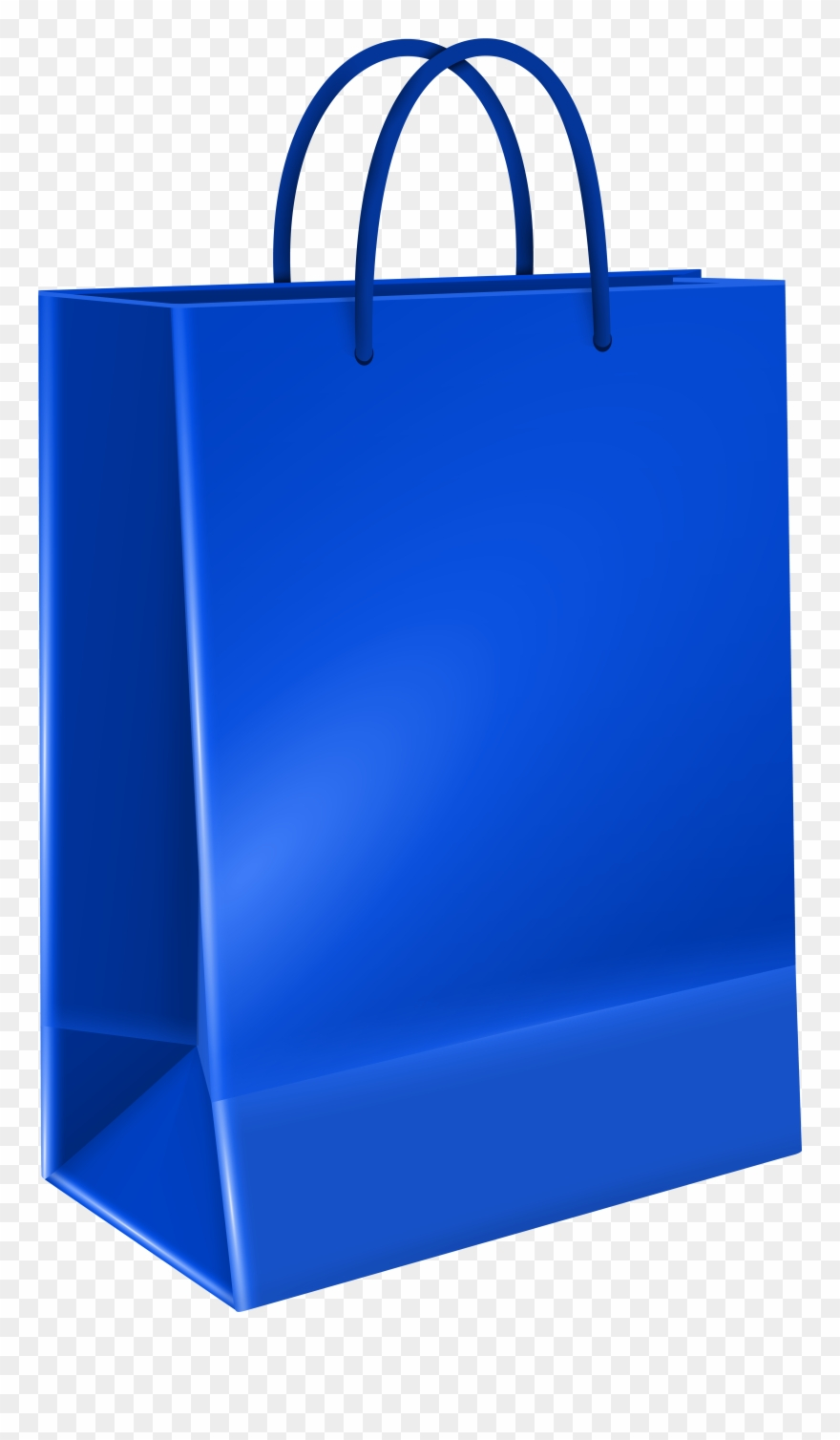 Gift Bag Blue Transparent Image.