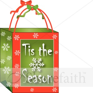 Christmas gift bags clipart.