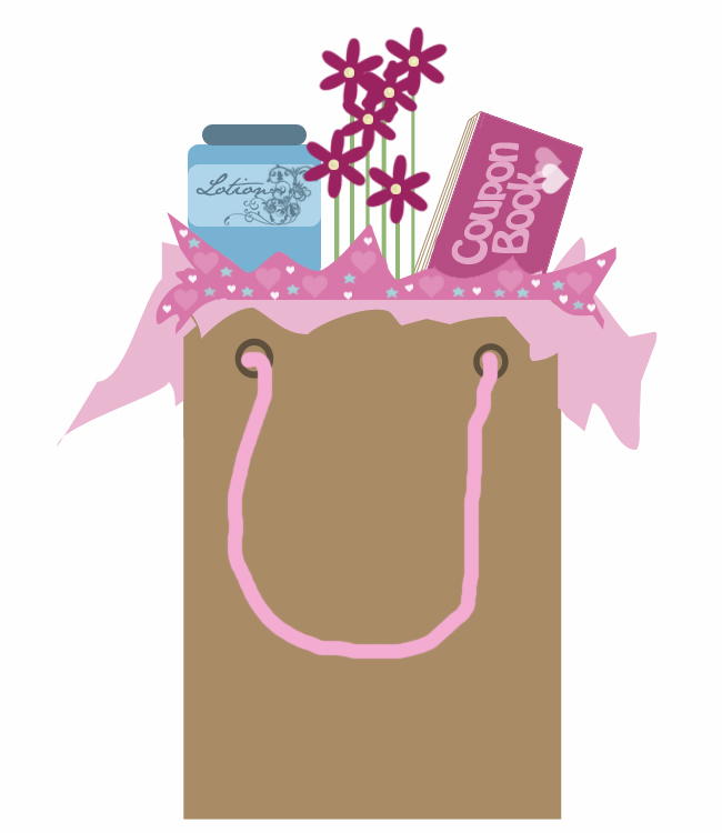 Pink Gift Bag Clipart.