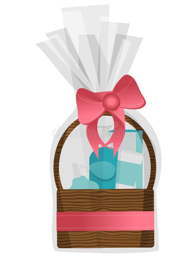 Gift Basket Stock Illustrations.