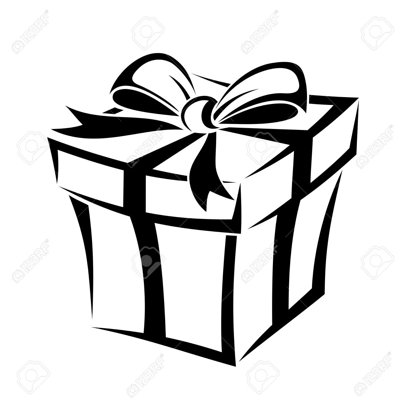 Gift box clipart black and white 3 » Clipart Portal.