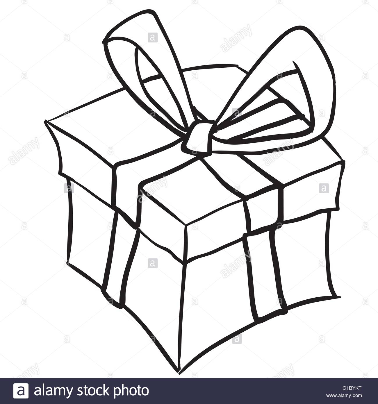 Gifts Clipart Black And White.