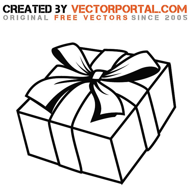 GIFT WRAPPED WITH RIBBON VECTOR.