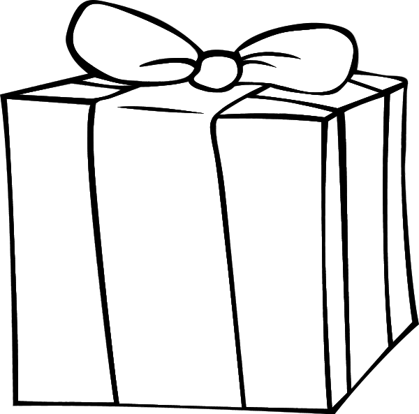 Gift black and white clipart clipart images gallery for free.