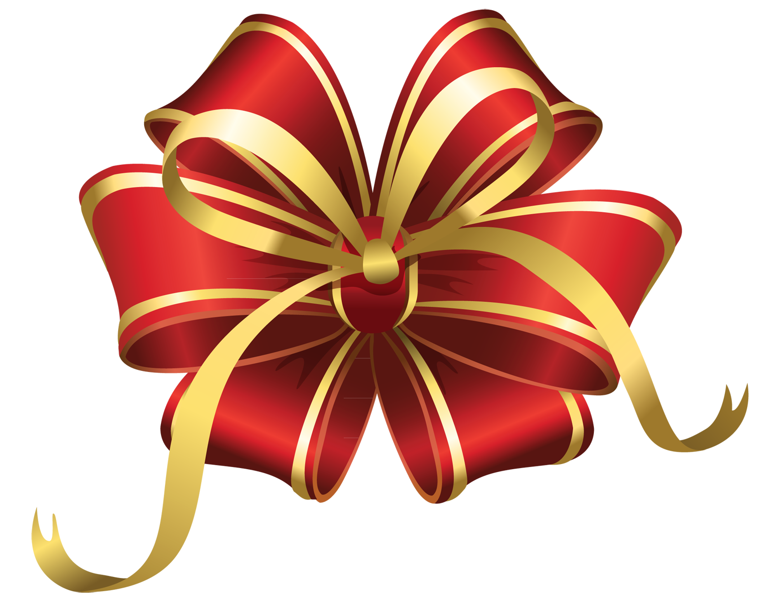 Christmas gift bow clipart.