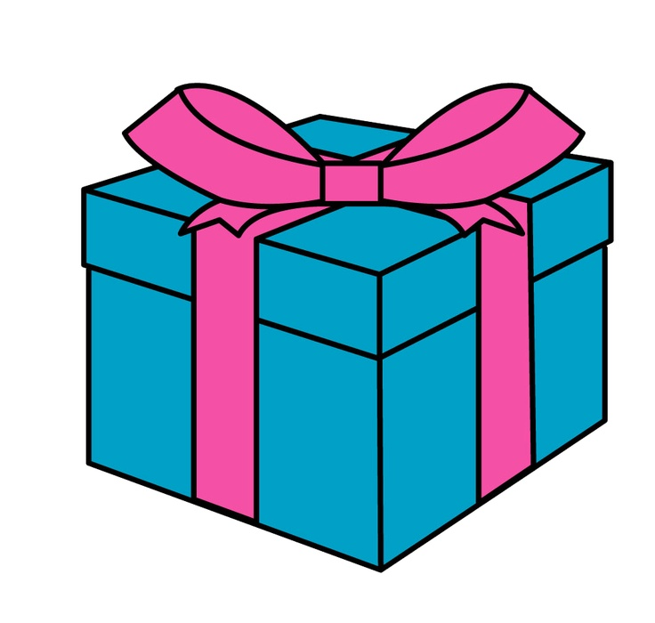 Gift Box In The Public Domain Clipart.