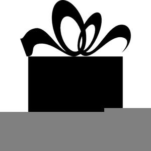 Gift Box Clipart Black And White.