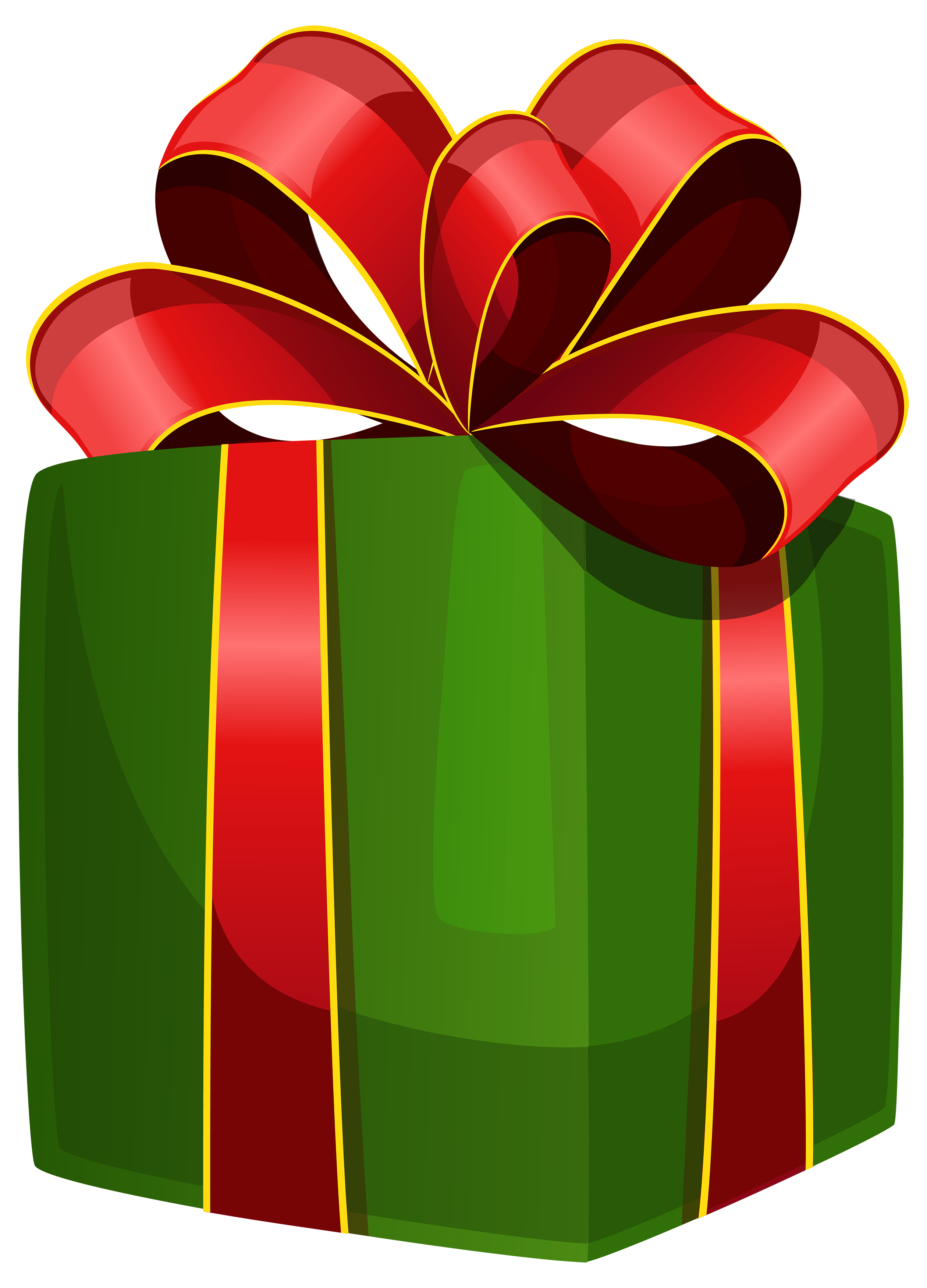 Green Gift Box PNG Clipart.
