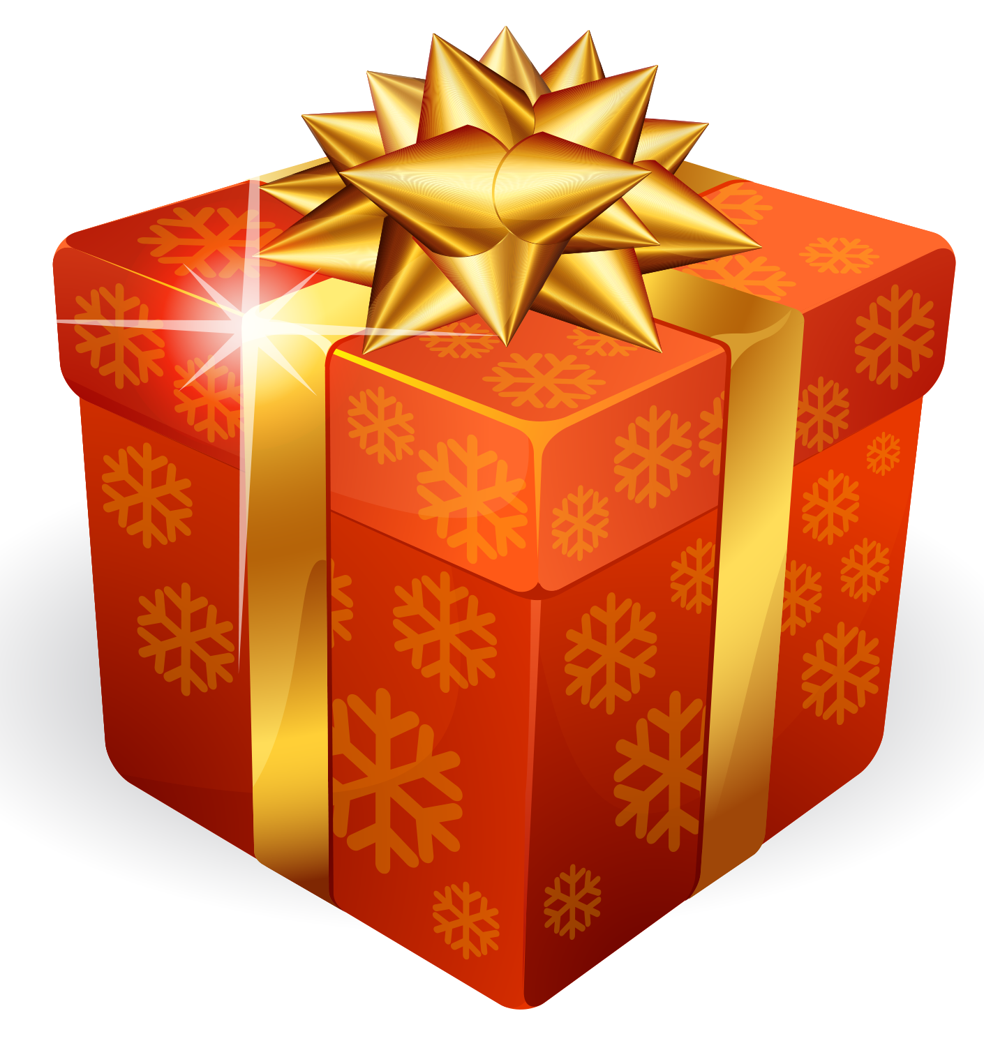 Download Gold Gift Box PNG For Designing Projects.