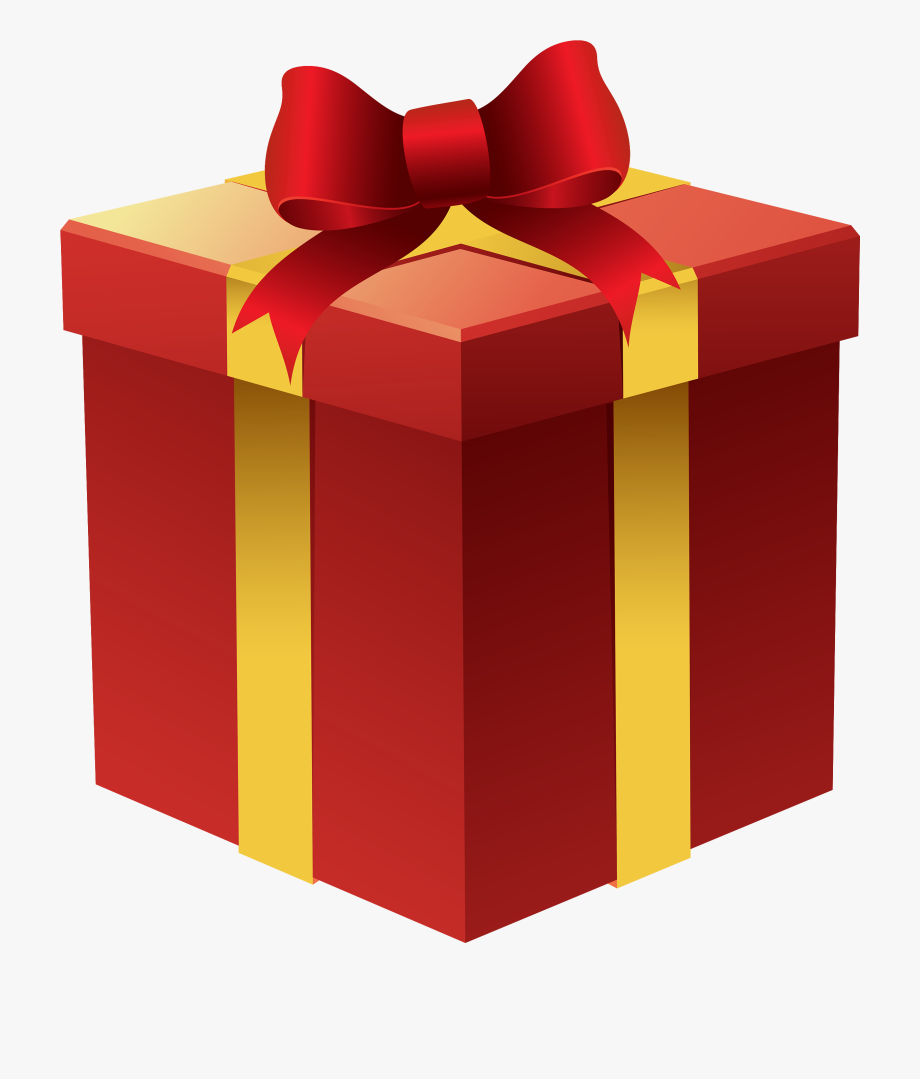 Clip Art Library Download Gift Box In Red Png Best.