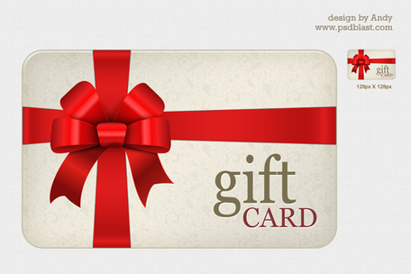 Gift Card Clip Art, Vector Gift Card.