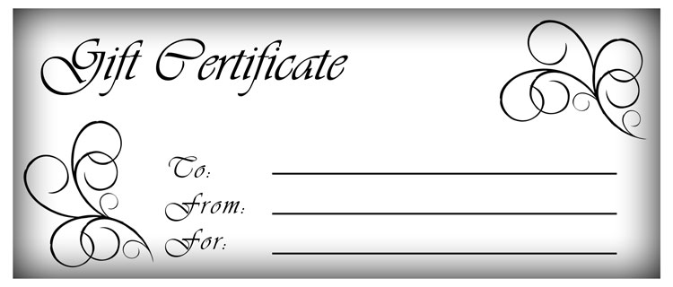 Printable Gift Certificates Clipart.