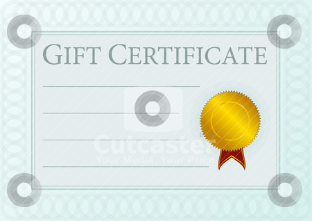 Clipart gift certificate template.
