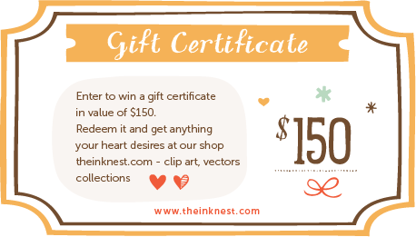 Clipart gift certificate.