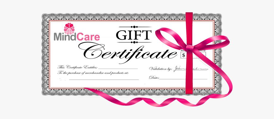 Gift Certificate Mindcarestore.