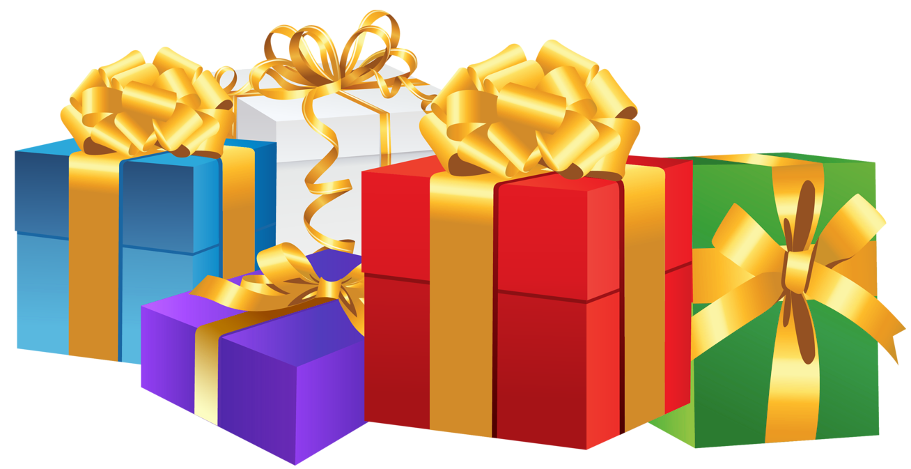 1784 Gift Box free clipart.