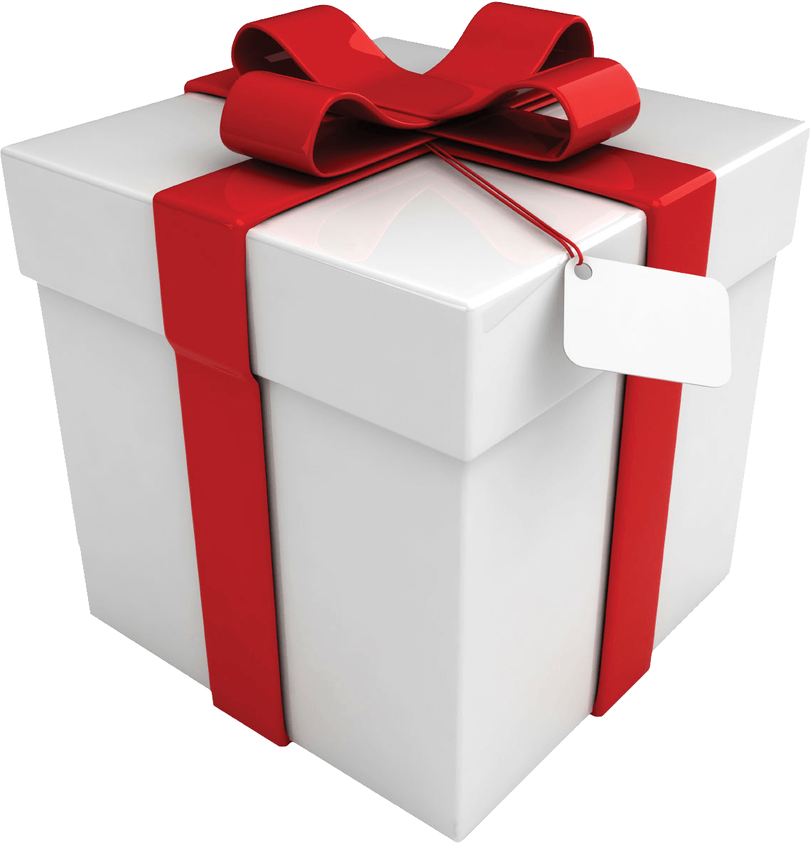 Gift Box With Ribbon PNG Transparent Image Free.