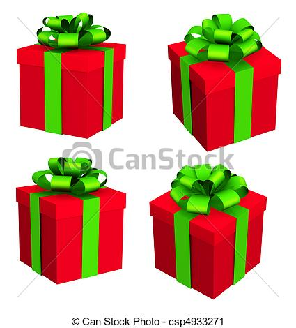 Clipart of Christmas gifts.