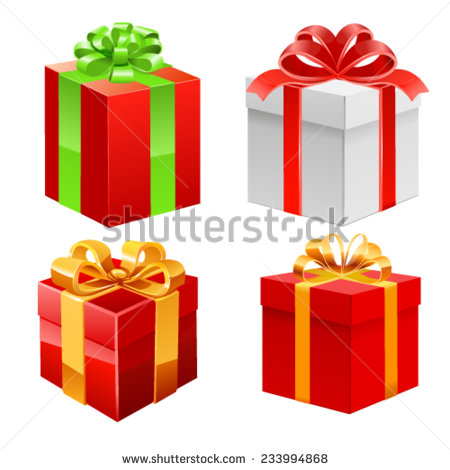 Different Gift Boxes Photo Realistic Vector Stock Vector 316140611.