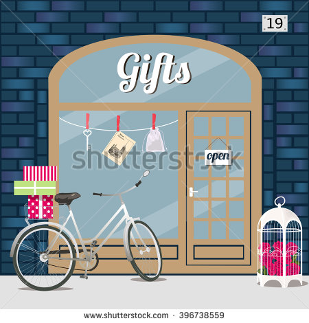 Holiday Gift Shop Clip Art.