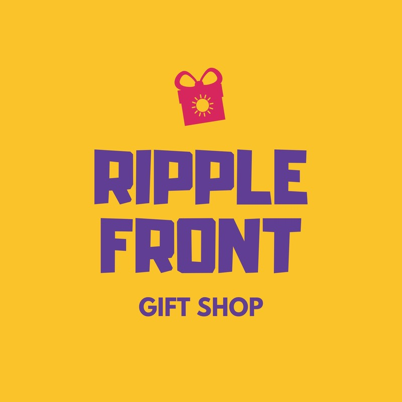 Yellow and Purple Gift and Souvenir Shop Logo.