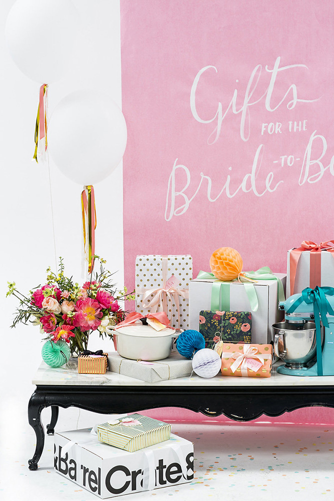 Gift Table Ideas For Bridal Shower.